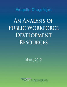 Cover of report on Chicago's Workforce Development Resources